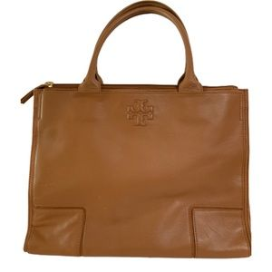 Handbags - Tory Burch Ella Tote Canvas and Leather Bag